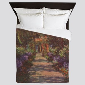 Monet Garden Path Queen Duvet