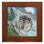 Wolf Moon Rising: Framed Tile