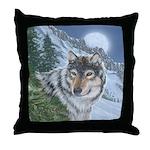 Wolf Moon Rising: Throw Pillow