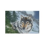 Wolf Moon Rising: Rectangle Magnet (100 pack)