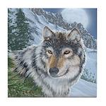 Wolf Moon Rising: Tile Coaster