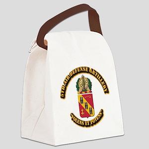 COA - 5th Air Defense Artillery Canvas Lunch Bag