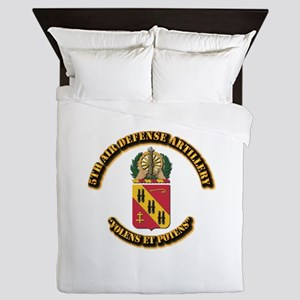 COA - 5th Air Defense Artillery Queen Duvet