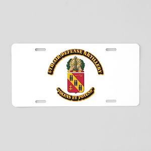 COA - 5th Air Defense Artillery Aluminum License P