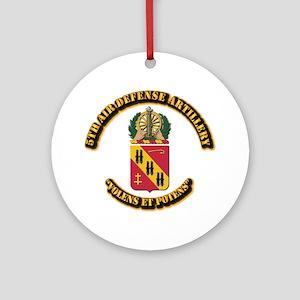 COA - 5th Air Defense Artillery Ornament (Round)