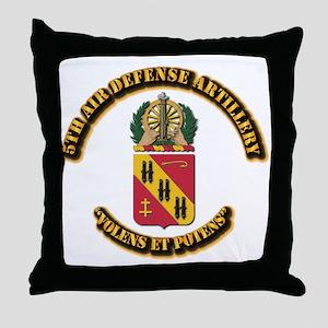 COA - 5th Air Defense Artillery Throw Pillow