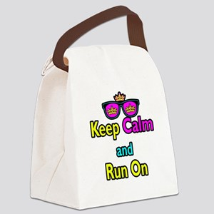 Crown Sunglasses Keep Calm And Run On Canvas Lunch