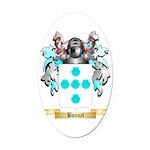 Bonnet Oval Car Magnet