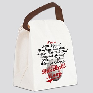 Baseball_Mom Canvas Lunch Bag