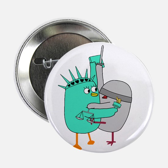 """Liberty and Justice for All 2.25"""" Button"""