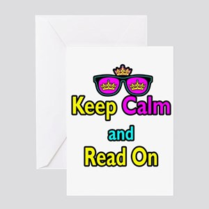 Crown Sunglasses Keep Calm And Read On Greeting Ca