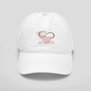 Love You, Cute Piggy Art Baseball Cap
