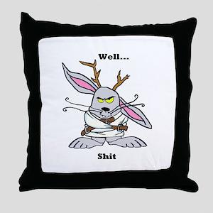 Crazy Jackalope Throw Pillow