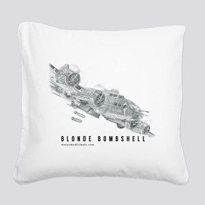 Blonde Bombshell Square Canvas Pillow
