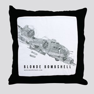 Blonde Bombshell Throw Pillow
