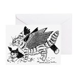 Winged Nearcats! Greeting Cards (Pk of 10)