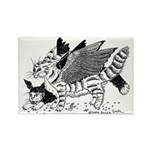 Winged Nearcats! Rectangle Magnet