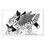 Winged Nearcats! Rectangle Sticker