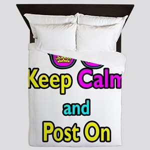 Crown Sunglasses Keep Calm And Post On Queen Duvet