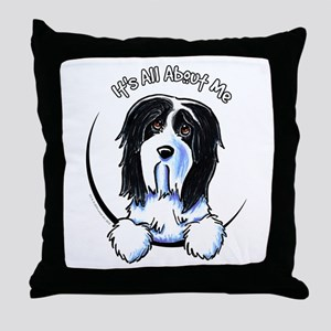 Bearded Collie IAAM Throw Pillow