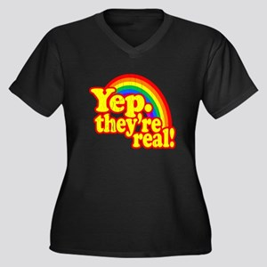 Yep. Theyre Real! (Retro Look) Plus Size T-Shirt