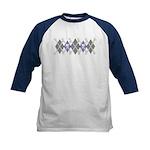 Argyle Pirate Kids Baseball Jersey, Blue Sleeves