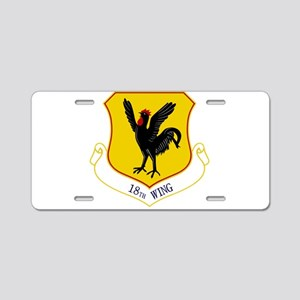 18th Wing Aluminum License Plate