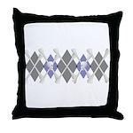 Argyle Modern Jolly Roger Cabin Pillow