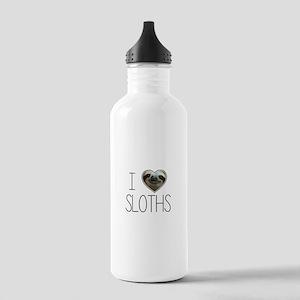 i love sloths Water Bottle