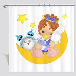 Sleepy Little Angel Shower Curtain