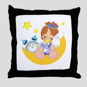 Sleepy Little Angel Throw Pillow