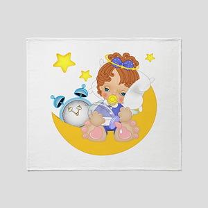 Sleepy Little Angel Throw Blanket