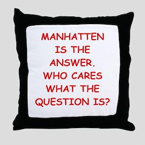 manhatten Throw Pillow