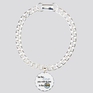 Be the change2 Charm Bracelet, One Charm
