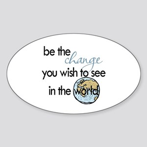 Be the change2 Sticker (Oval)