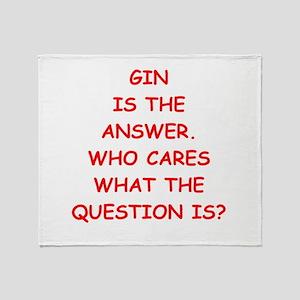 gin Throw Blanket