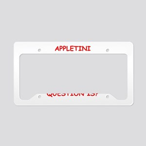 appletini License Plate Holder