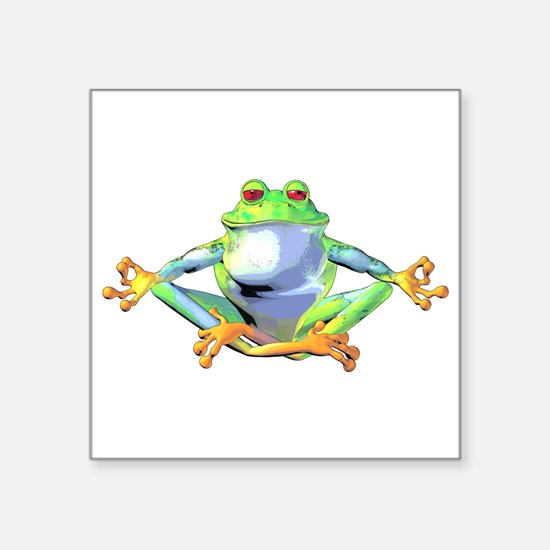 Meditating Frog Sticker