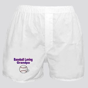 Baseball Loving Grandpa Boxer Shorts