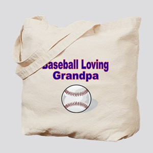 Baseball Loving Grandpa Tote Bag