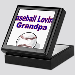 Baseball Loving Grandpa Keepsake Box