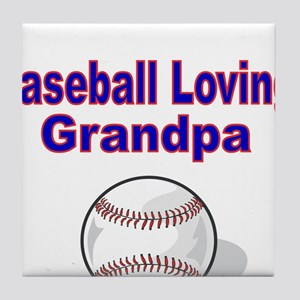 Baseball Loving Grandpa Tile Coaster