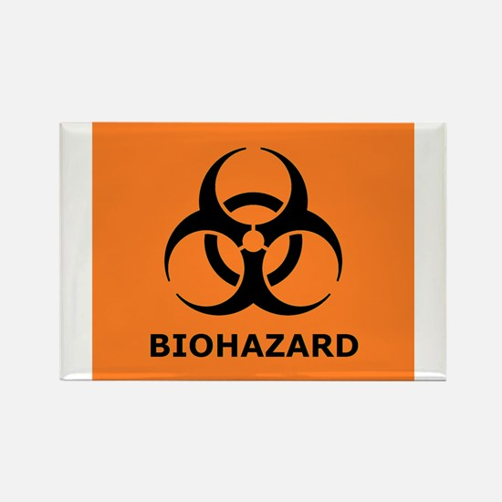 biohazard Rectangle Magnet