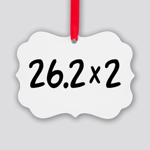 26.2 x 2 Marathon Ornament