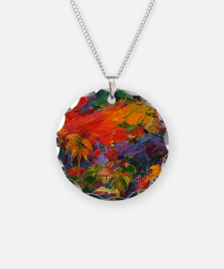 oil on canvas) - Necklace