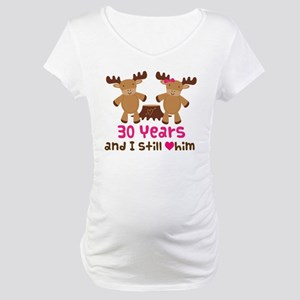 30th Anniversary Moose Maternity T-Shirt