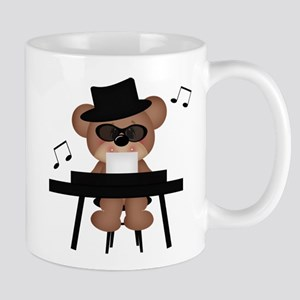 Piano playing bear Mug