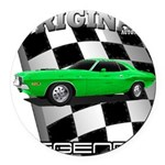 Musclecar 1970 Top 100 Round Car Magnet