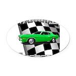 Musclecar 1970 Top 100 Oval Car Magnet