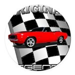 Musclecar 1969 Top 100 Round Car Magnet